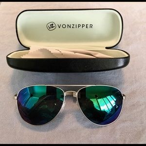 Vonzipper antique silver with grey green Mirror